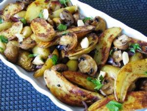 картошка с грибами запеченная в духовке