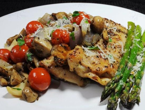 куриные бедра фаршированные грибами в духовке рецепт