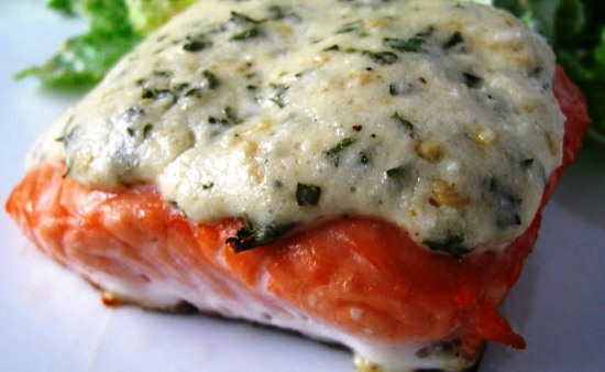 красная рыба в духовке рецепты с фото со сливками