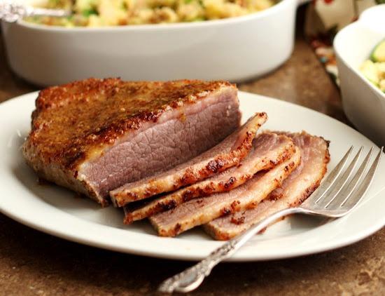 запечь мясо куском в духовке