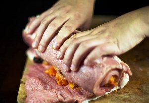 мясной рулет в духовке