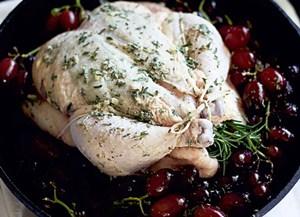 курица целиком в духовке