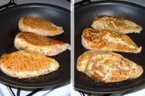 Обжариваем куриное филе  на масле с двух сторон