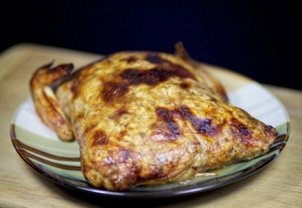 Фаршированная курица запеченная в духовке
