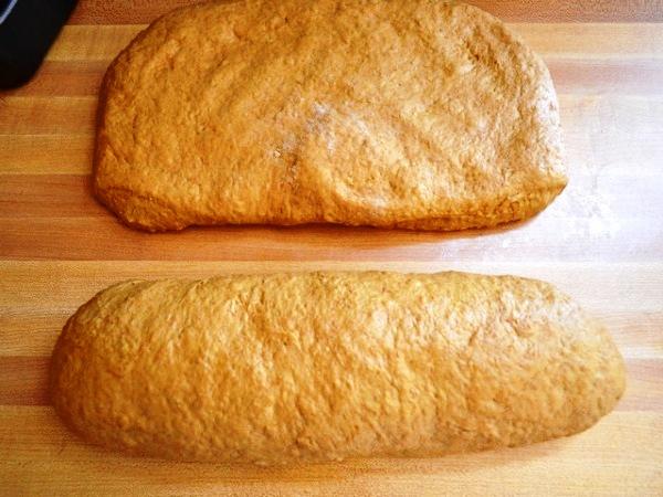 Формируем буханки хлеба