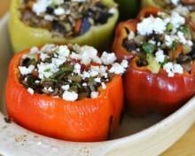 Вегетарианские фаршированные перцы в духовке