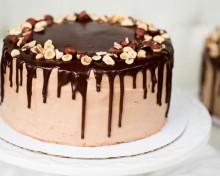 Шоколадно ореховый торт с фундуком
