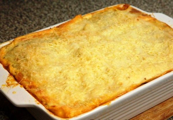 Запекаем лазанью с сыром пармезан