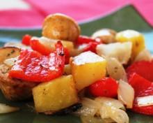 Овощи запеченные в духовке рецепт с курицей