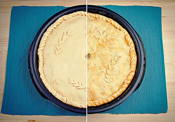 Запекаем пирог курник в духовке