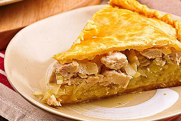 Курник рецепт с курицей и картошкой