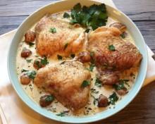 Курица с грибами рецепт