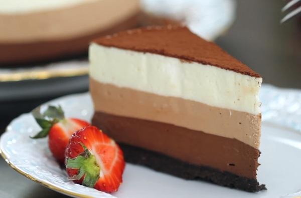 Торт три шоколада пошаговый рецепт с фото