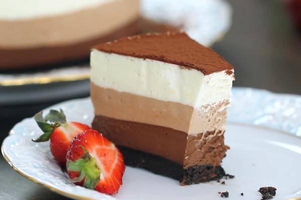 Торт три шоколада пошаговый рецепт