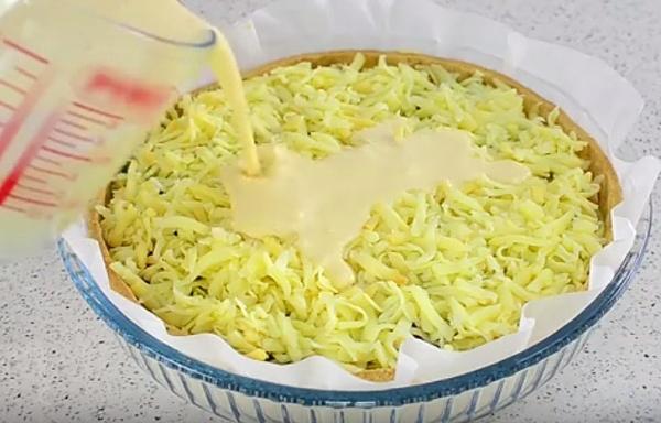 Пирог с курицей и сыром рецепт