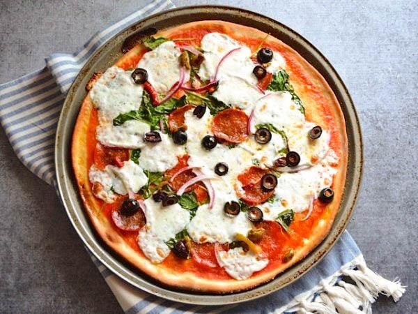 Лучшее дрожжевое тесто для пиццы