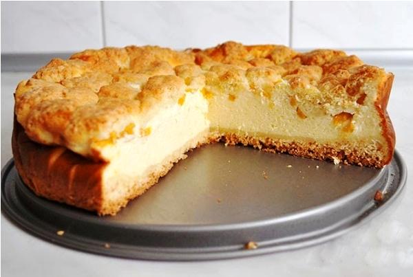 Творожный пирог из песочного теста рецепт