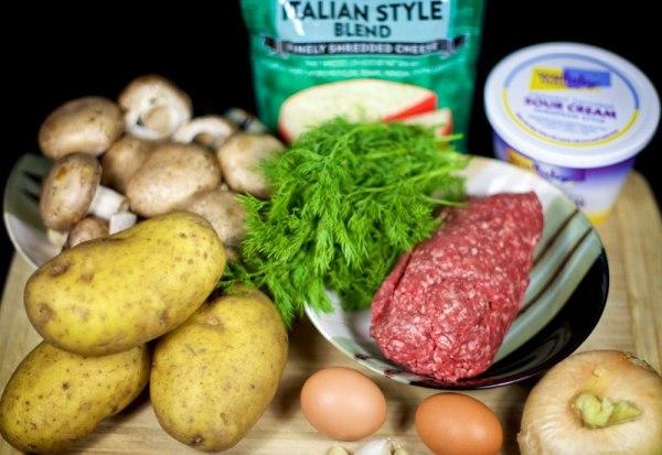 Картофельная запеканка с мясом в духовке рецепт