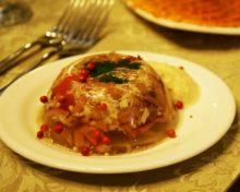 Заливное из курицы с добавлением желатина