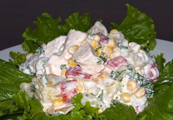 Салат с курицей и ананасами вкусный рецепт