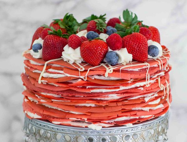 Торт на день влюбленных без мастики