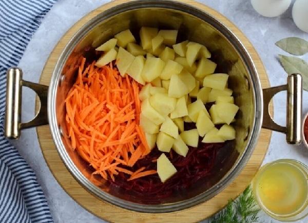 Красный борщ со свеклой рецепт с фото