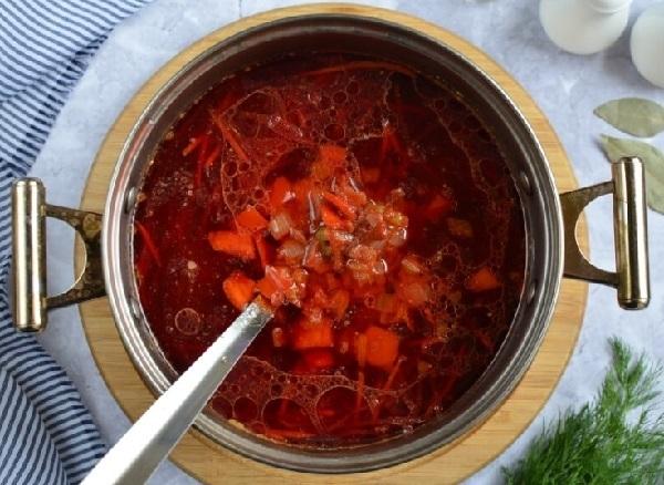 Пошаговый рецепт красного борща