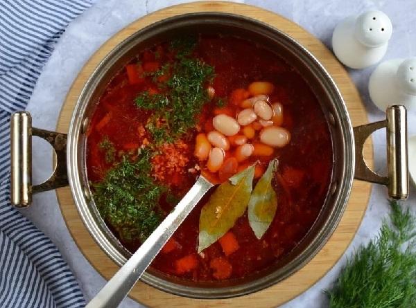 Красный борщ рецепт пошаговый с фото