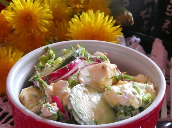 Салат с редиской и огурцом рецепты