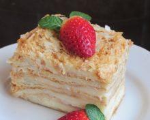 Торт наполеон из готового слоеного бездрожжевого теста