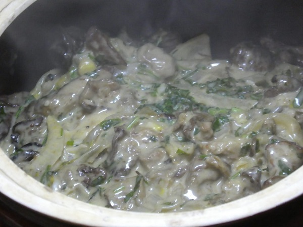 Грибной соус для вареников с капустой