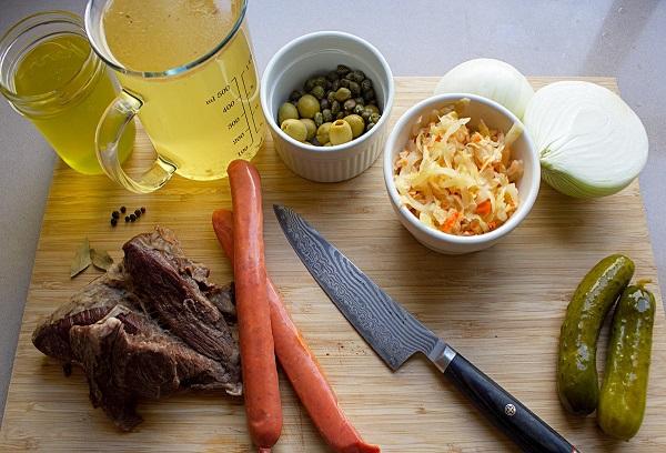 Рецепт супа солянки мясной сборной классический пошаговый