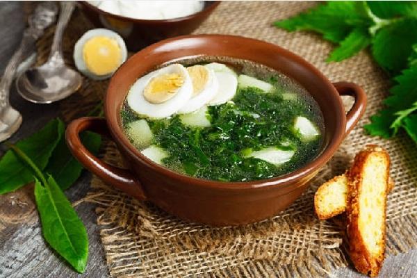 Суп с крапивой и яйцом рецепт