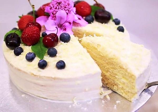 Торт Молочная девочка пошаговый рецепт