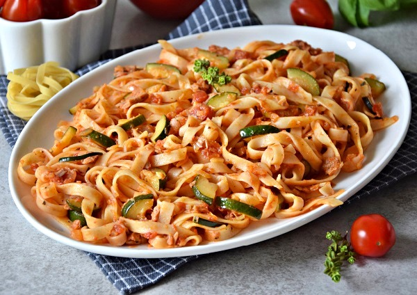 Макароны с тунцом консервированным рецепт с фото