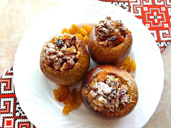 Яблоки запеченные в духовке с медом