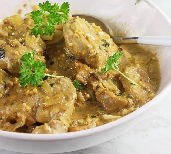 Рецепт свинины в горчично медовом соусе