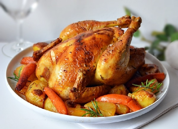 Запечь картошку с курицей в духовке рецепт