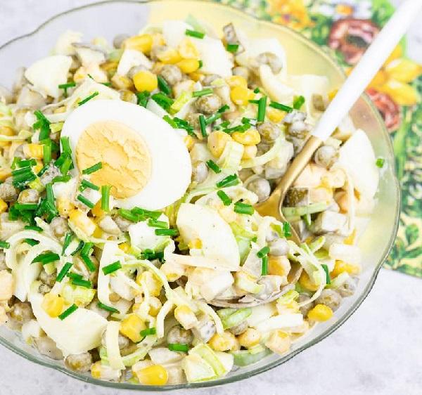 Рецепт салата с луком пореем