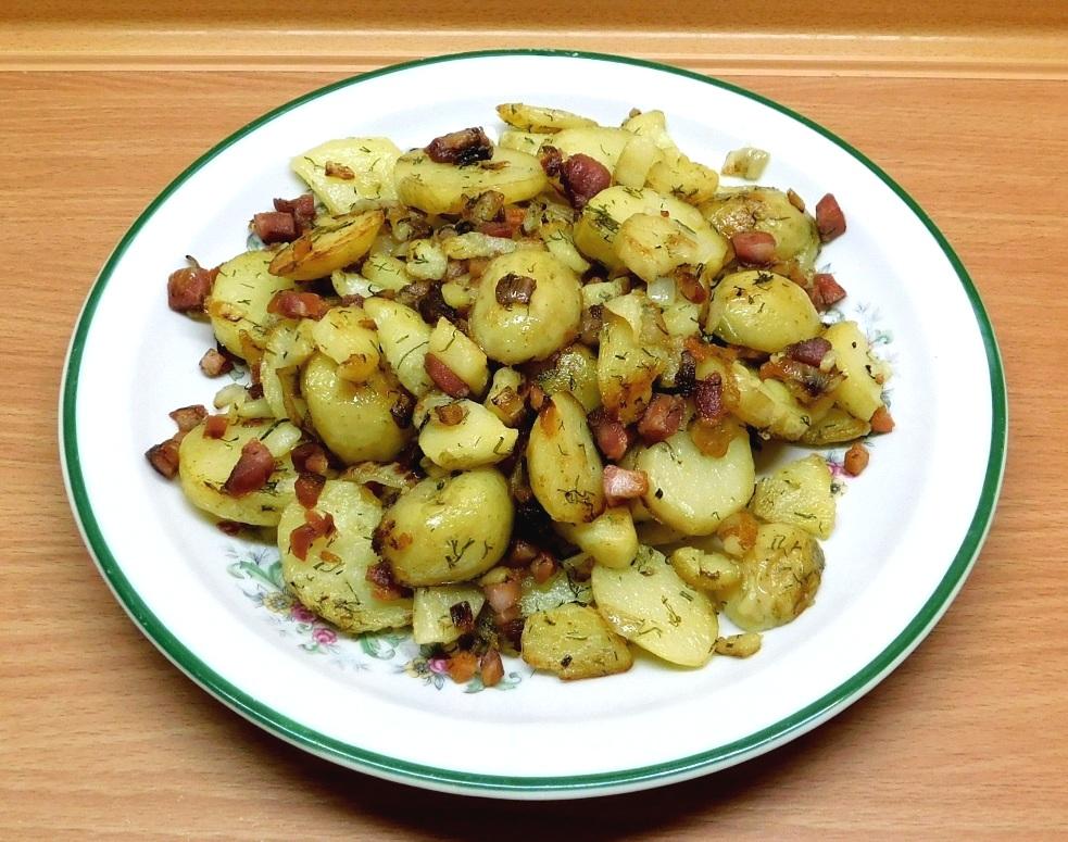 Жареная молодая картошка