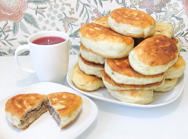 Пирожки с ливером жареные на сковороде рецепт