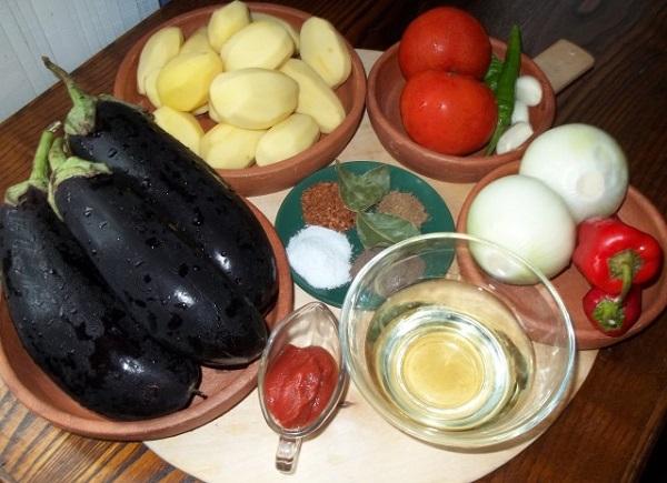 Аджапсандали по грузински классический рецепт с картошкой