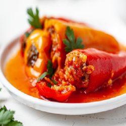 Перец фаршированный мясом и рисом рецепт классический