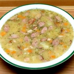 Суп гороховый с копченостями пошаговый рецепт