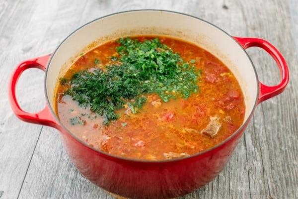 Суп харчо из говядины классический