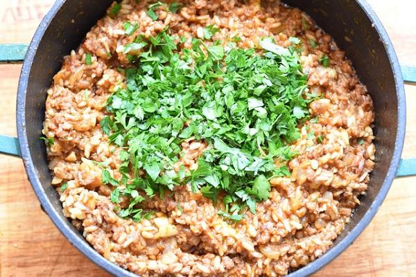 Кабачки фаршированные фаршем и рисом в духовке