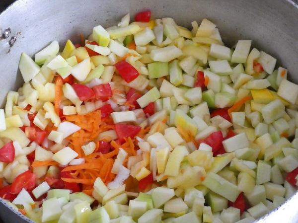 Рецепт приготовления лечо из кабачков на зиму