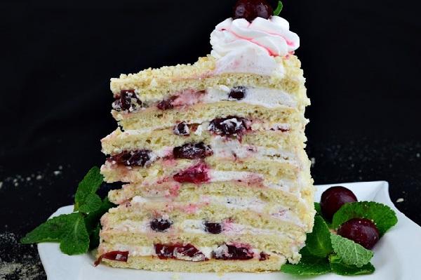 Торт с вишней рецепт