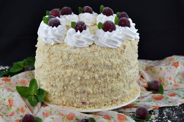 Крем для торта с вишней замороженной рецепт