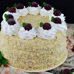 Торт с вишней и сливочным кремом рецепт
